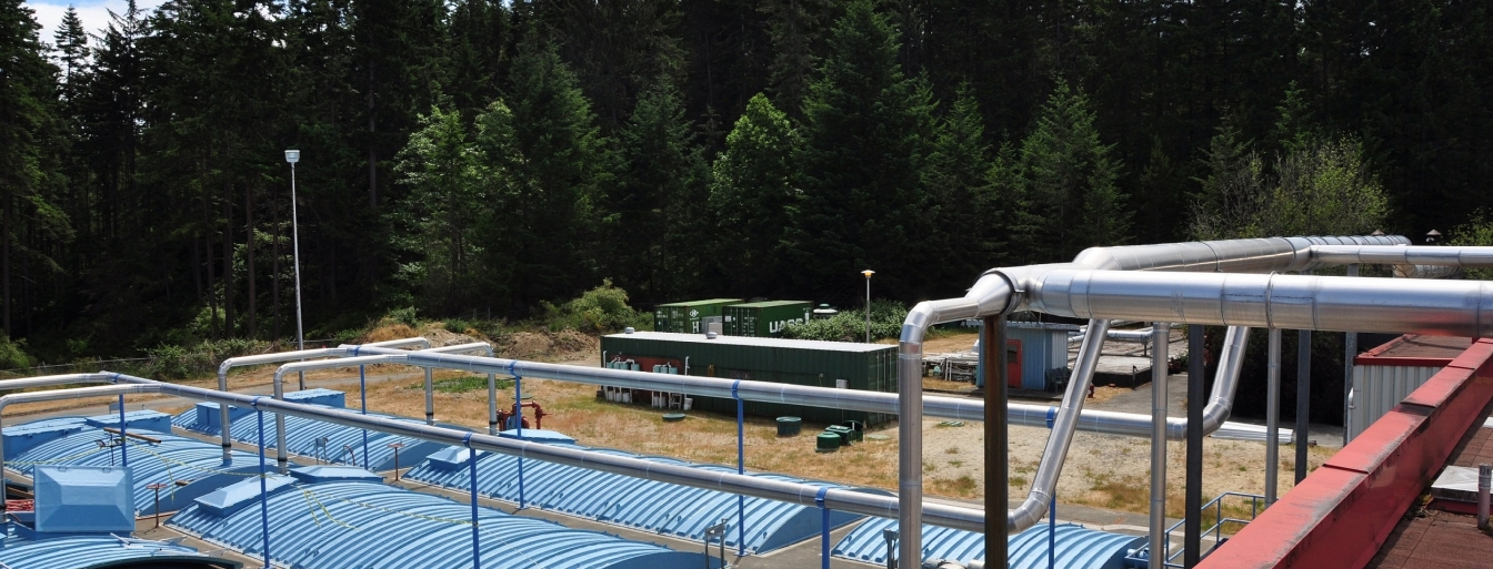 sewage treatment plant in the Comox Valley