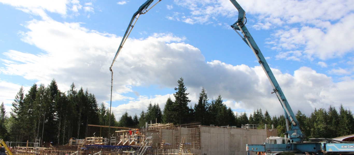 Concrete pouring at WTP